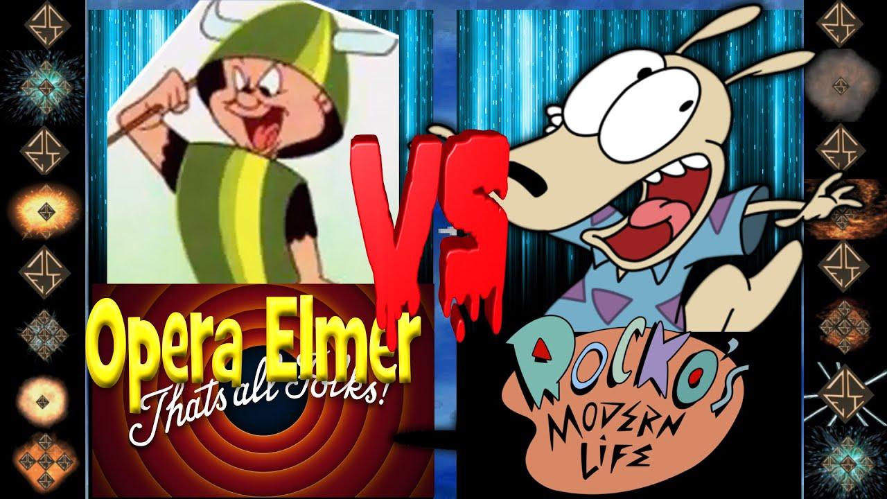 Download Opera Elmer (Looney Tunes) vs Rocko (Rocko's Modern Life) - Ultimate Mugen Fight 2016