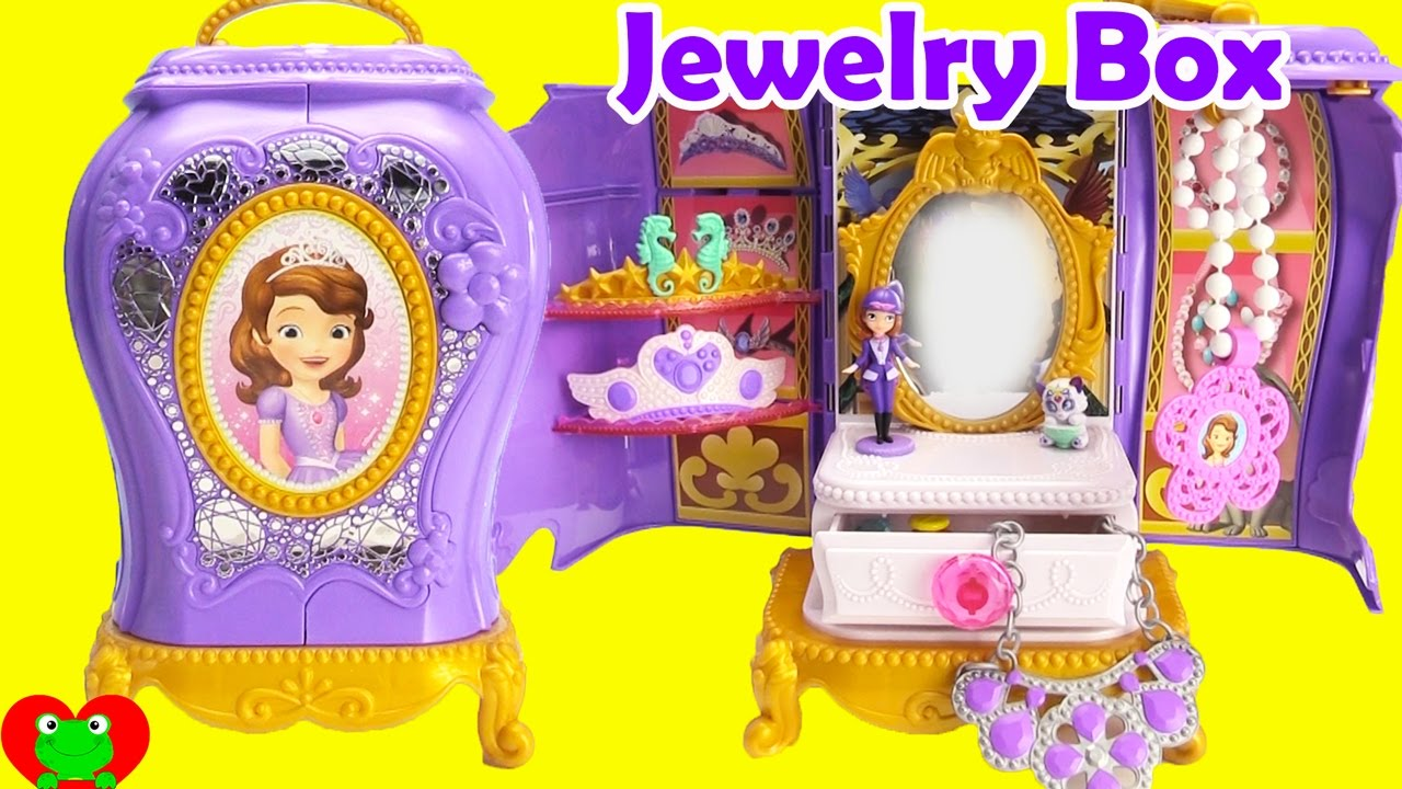 Sofia the First Jewelry Box with Surprises YouTube