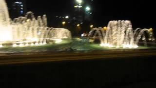 Баку. Набережная. Фонтаны.(29.09.15г. Баку. Ночные фонтаны напротив дома Правительства., 2015-10-11T09:17:13.000Z)
