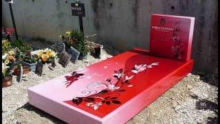 Цветные памятники, цветные рисунки. «Позитивные» надгробия(, 2015-01-07T16:11:39.000Z)