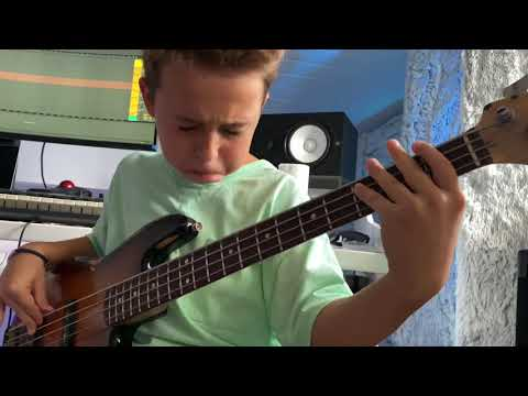 """(9yrs) AronTheBassist – """"Hit different"""" by SZA ft. Ty Dolla $ign (bass cover)"""