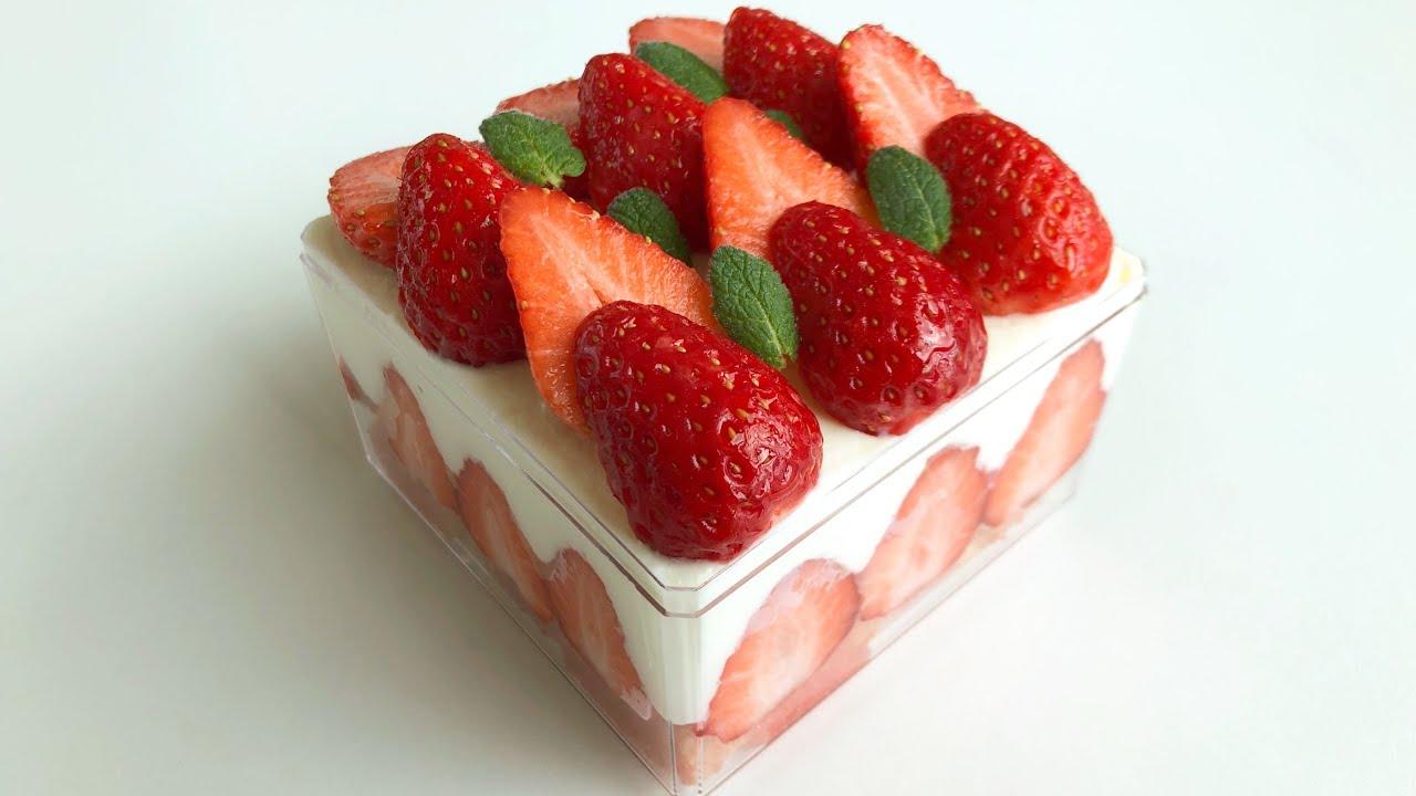 슬슬 섞는 딸기 티라미수 ㅣ 노오븐 ㅣ 노달걀 ㅣ 불사용 없음 ㅣ Tiramisu Recipe