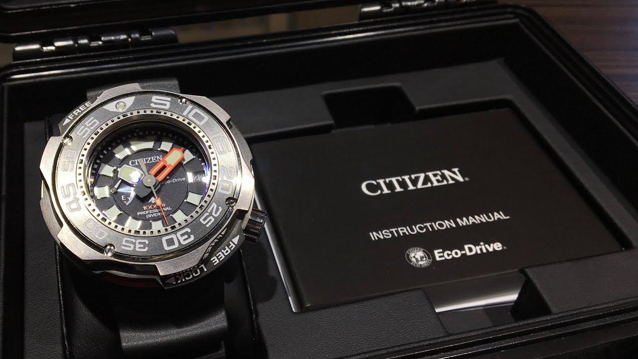 03dd059bfa8 Citizen Promaster Eco Drive Professional Diver 1000M