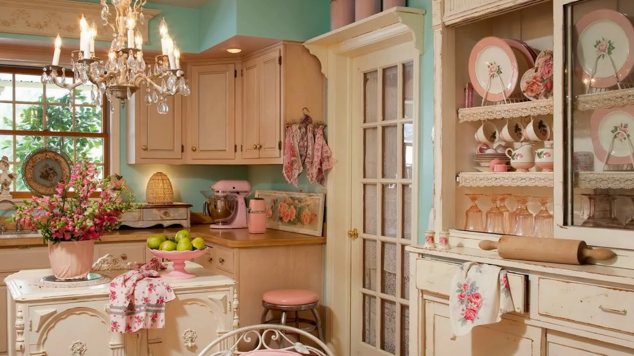A vintage movie poster, or an old piece of furniture can sometimes do for a room, what the most expensive piece of furniture cannot, and the delight it. 50 Charming Shabby Chic Kitchens You Ll Never Want To Leave Youtube
