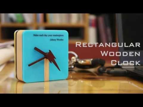 Rectangular Wooden Clock