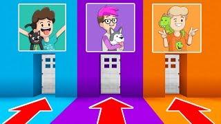 DENIS vs ALEX vs SKETCH -- CHOOSE THE CORRECT DOOR in Minecraft! (The Pals)