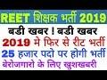 REET 3rd Grade Teacher Bharti 2019 latest news, Rajasthan new reet bharti 2019
