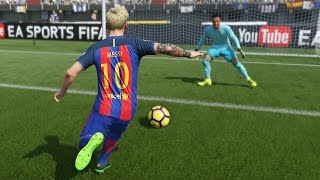 Barcelona vs Real Madrid | La Liga, Camp Nou (Clasico Diciembre 3, 2016) | FIFA 17 Simulacion