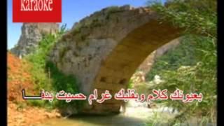 Arabic Karaoke bi3younak kalam wael kfoury
