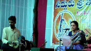 Sri Appaji Bhajan by usha at tyagaraya aaradhanotsavam-2