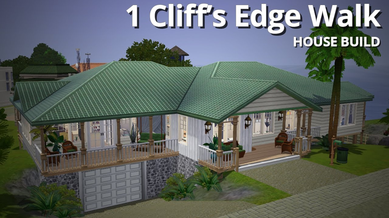 The sims 3 house building 1 cliff 39 s edge walk aluna island youtube Create a house game