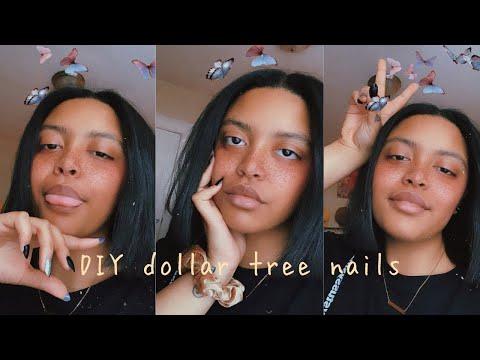 DIY Fake Nails With Dollar Tree Supplies | Beauty Tingz