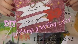 Making a wedding greeting card DIY // Делаем свадебную  открытку