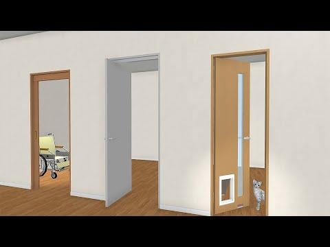 バリアフリー・省スペース・ペット用ドアの開き方も3Dでシミュレーション / 住空間デザイン用3Dソフトに業務用開口部製品メーカー・ユニフローの住宅向け機能性ドアの3D素材を追加公開