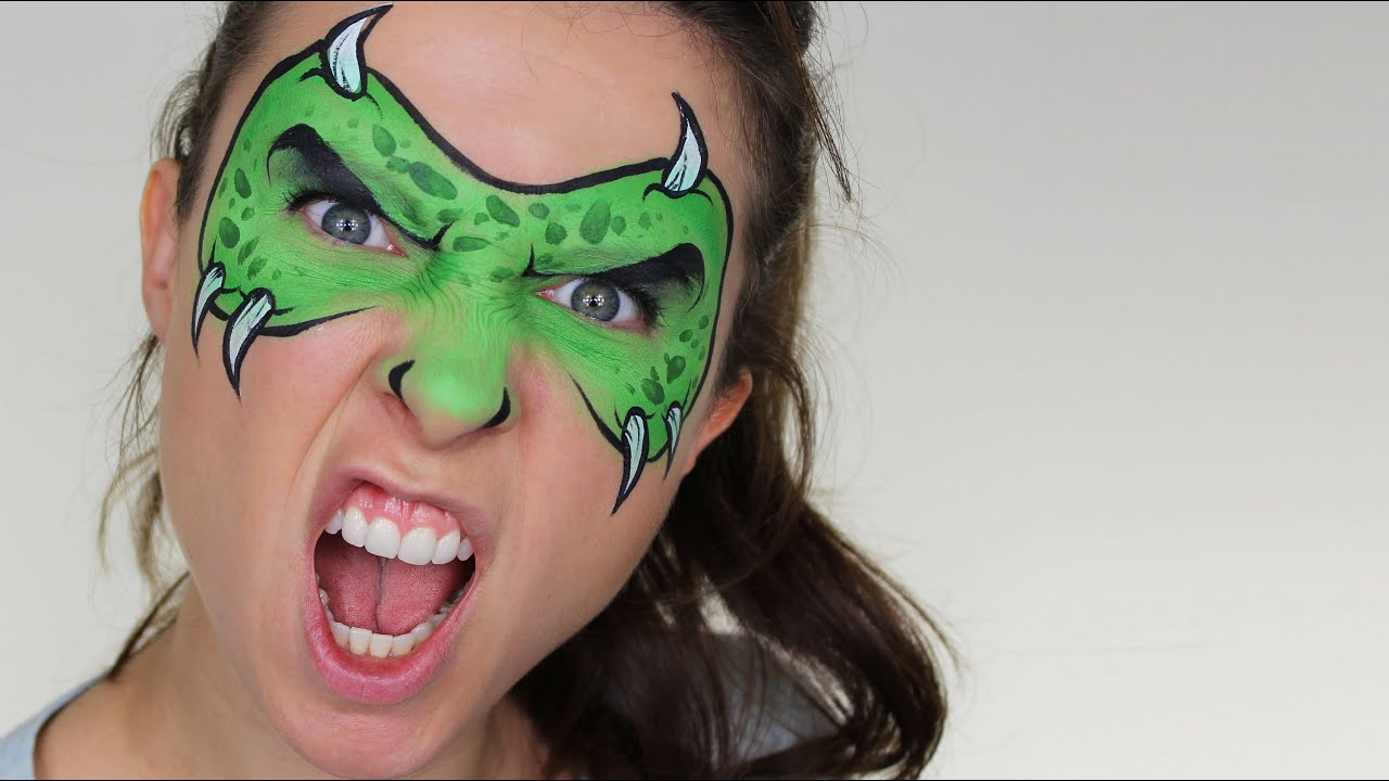 Monster Mask Face Painting Tutorial