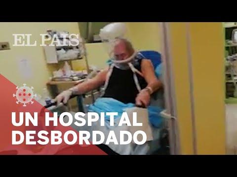 Así es el interior de un hospital DESBORDADO con enfermos de #CORONAVIRUS