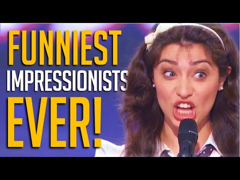 Top 10 Funniest Voice Impressionists on Got Talent EVER!