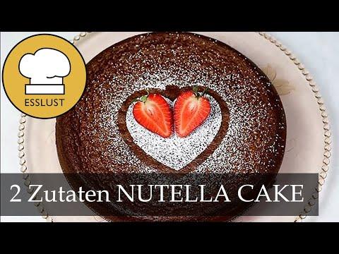 Nutella Cake Mit 2 Zutaten Youtube