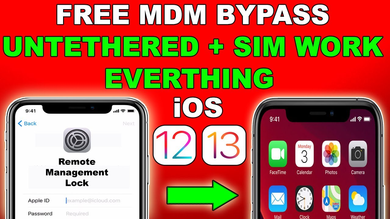 FREE Untethered MDM Lock Bypass WITH SIM/iCloud For iOS12/iOS13/13.6|Unlock MDM iOS 2020 #mdmunlock|