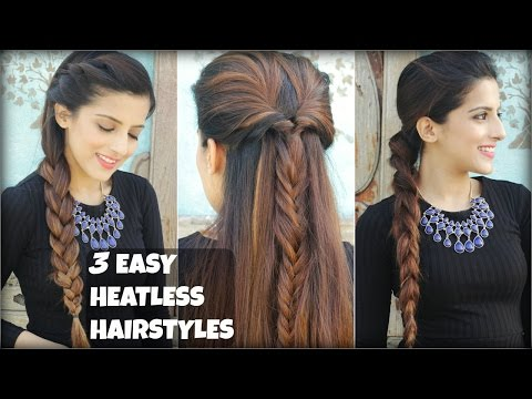 3 QUICK & EASY Everyday Braided Hairstyles For Medium To Long Hair