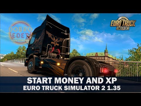 ✅Обзор Мода START MONEY AND XP ETS2 1.35