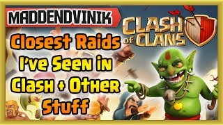 Clash of Clans - Closest Raids I've seen in Clash & Other Stuff (Gameplay Commentary)