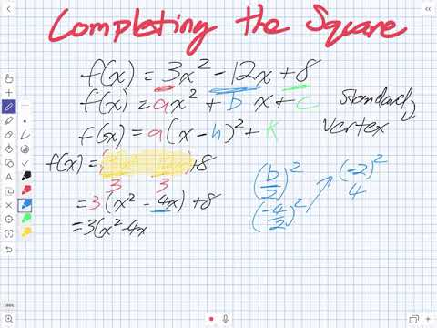Completing the Square (Grade 11 University)