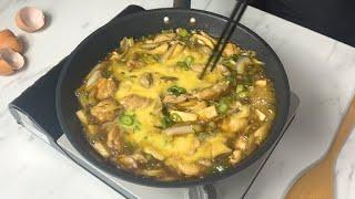 오늘 저녁은 닭고기 덮밥이야.