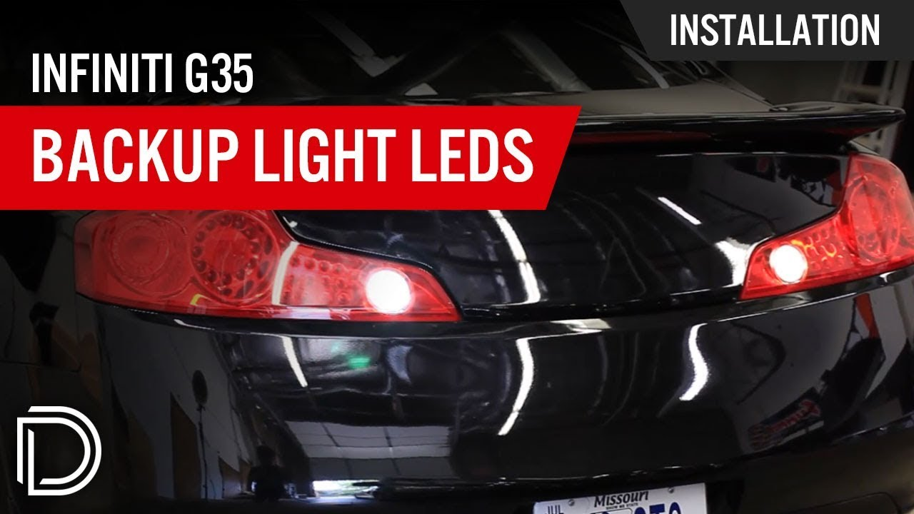 infiniti g35 tail light removal and backup light install