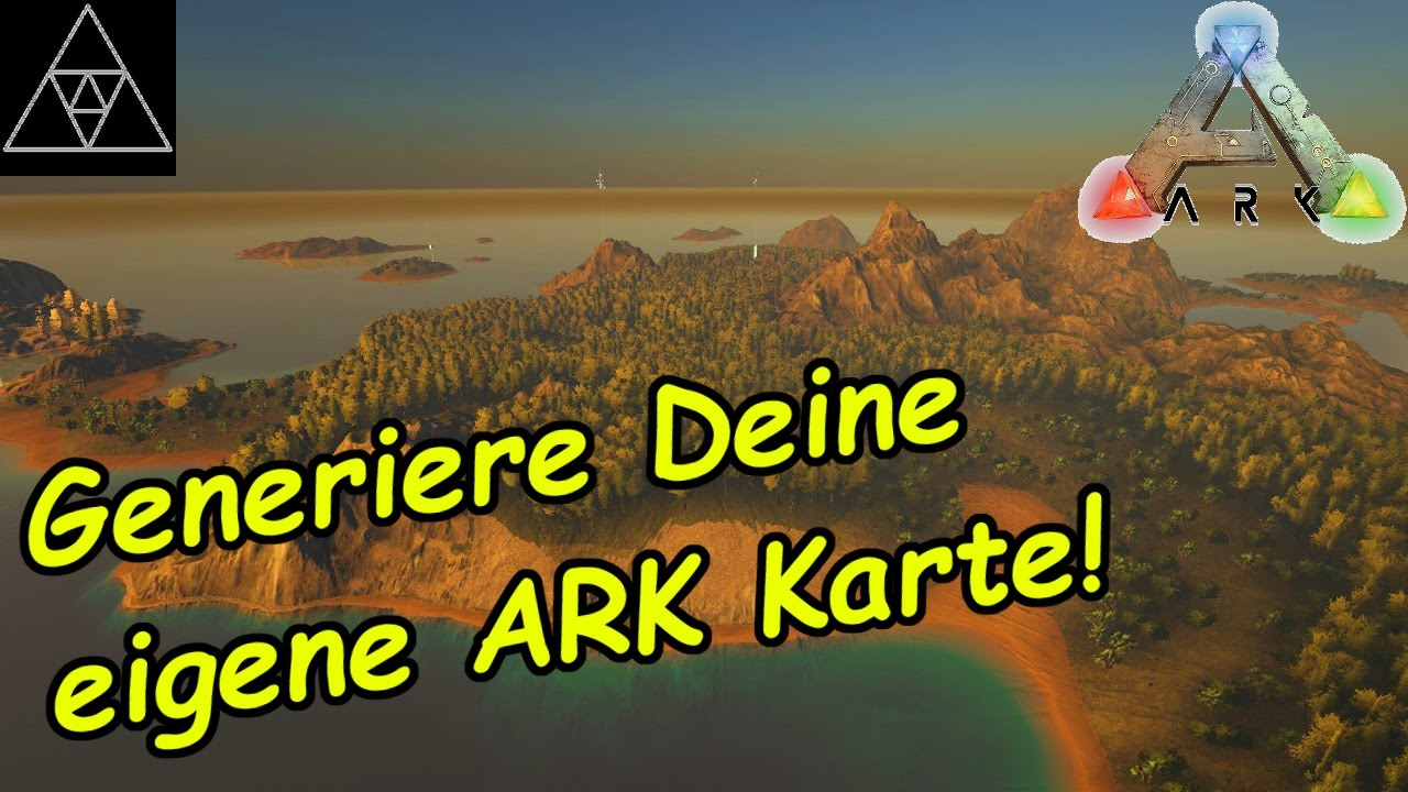 ark karte ARK Karten selbst generieren! Map Generator! Procedurally