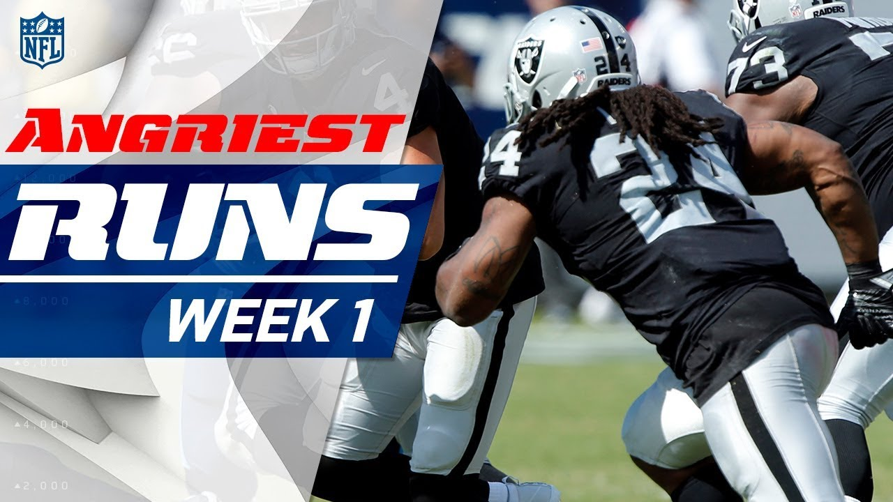 Top 5 Angriest Runs Of Week 1 Good Morning Football Nfl Network Youtube