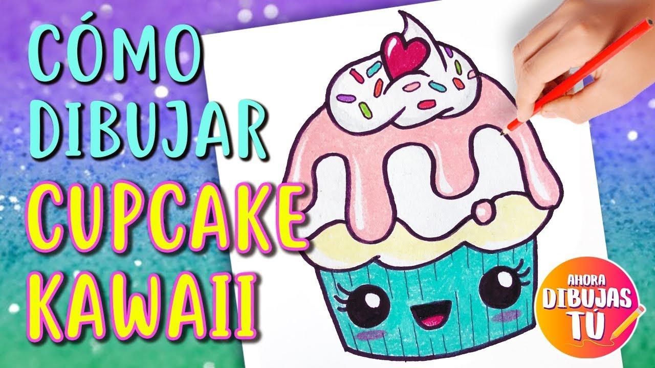 Cómo Dibujar Cupcake Kawaii Dibujos Kawaii Youtube