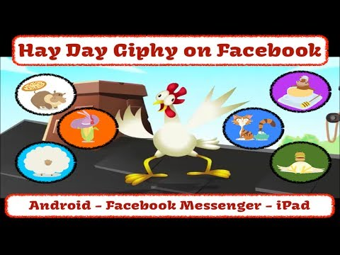 Hay Day - Android, Facebook Messenger, iPad - Stickers