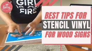 Tricks for Using Stencil Vinyl & Getting More Out of Your Designs!