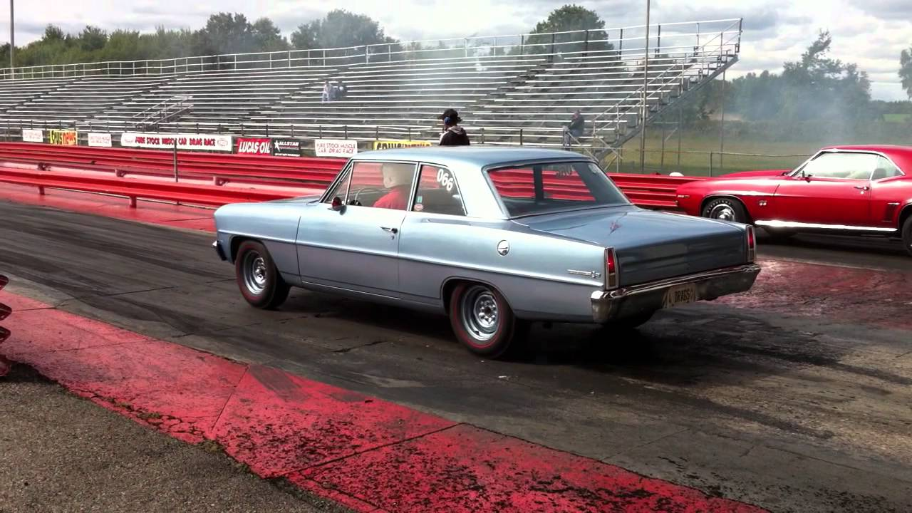 Pure Stock Muscle Car Drag Race
