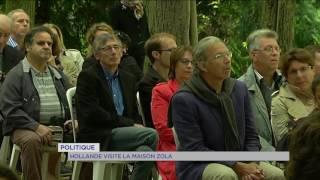 Politique : la visite de François Hollande à la maison d'Emile Zola