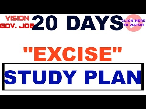 || Excise PSI || Study plan || for mpsc upsc sti psi asst exams ||