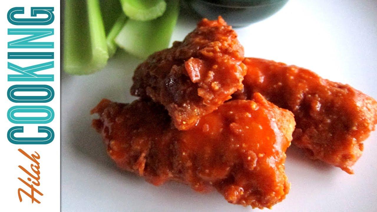 How To Make Boneless Buffalo Wings | Hilah Cooking - YouTube