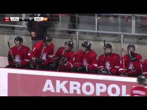 Pasaulio ledo ritulio (U20) čempionato II diviziono rungtynių Lietuva - Estija įrašas