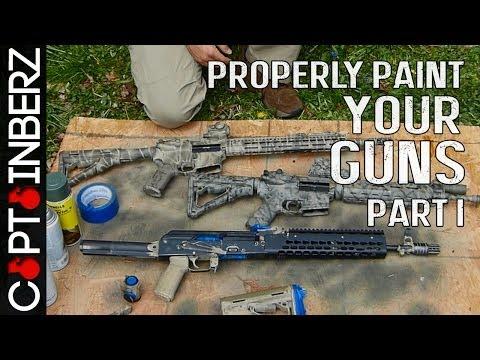 Properly Camo Painting A Gun/Rifle (Part I)