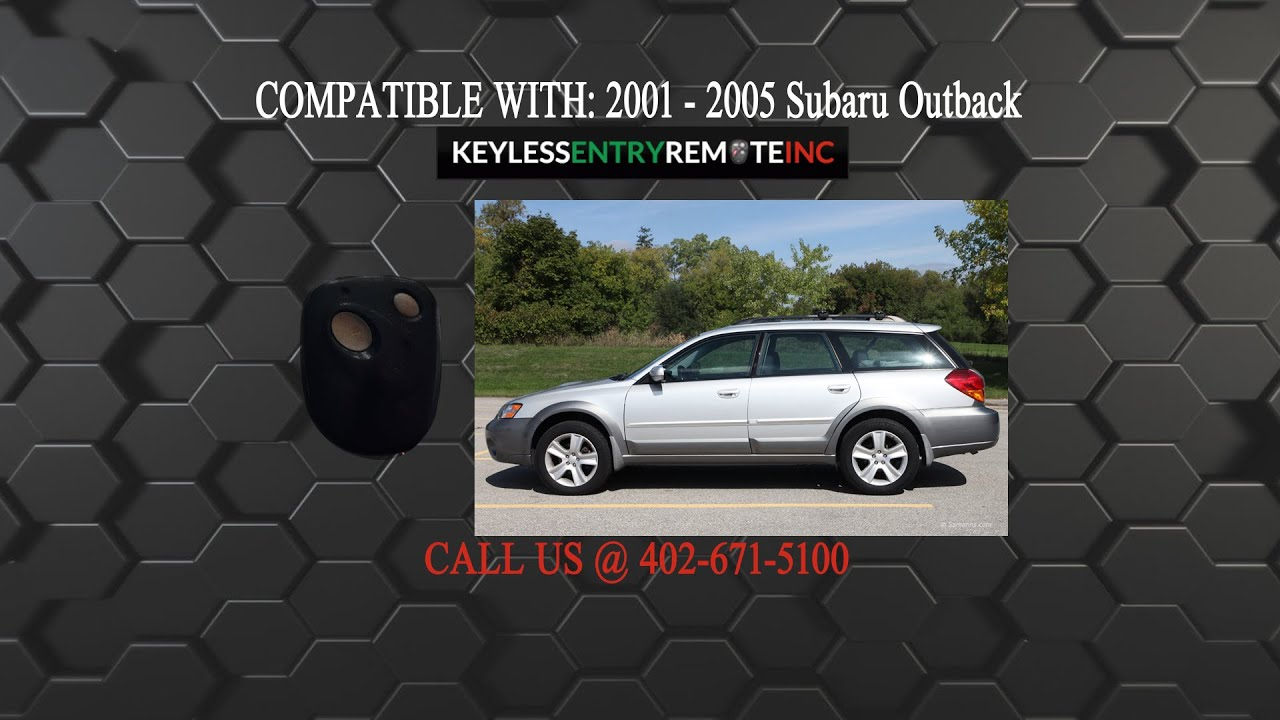 How to replace subaru outback key fob battery 2001 2002 2003 2004 2005