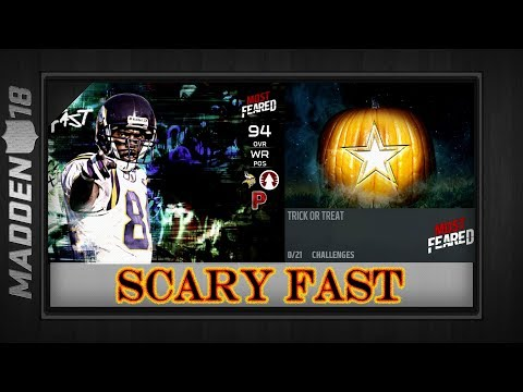 Madden 18 - MOST FEARED SCARY FAST (Challenges & Set Rewards Overview) - Randy Moss