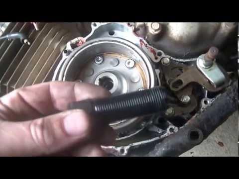 2008 Honda Rancher Wiring Diagram 5 14 2013 Honda Big Red Fly Wheel Removal Youtube