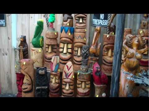 Tiki Carvings at The Swap Shop Antiques Store