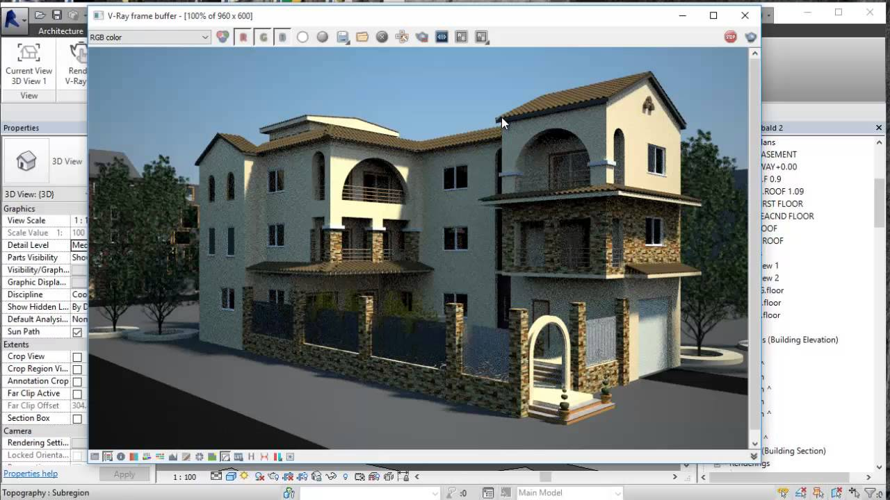 V ray for revit youtube - Revit exterior rendering settings ...
