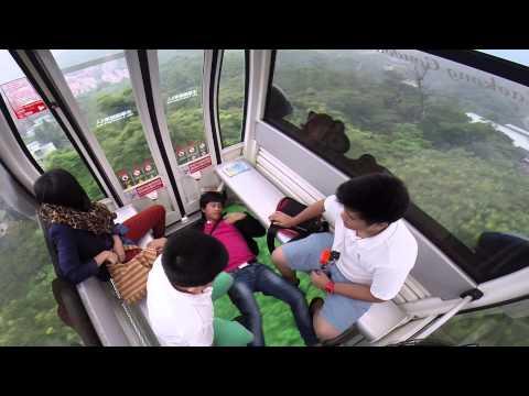 Glass-bottom cable car (Harlem shake)