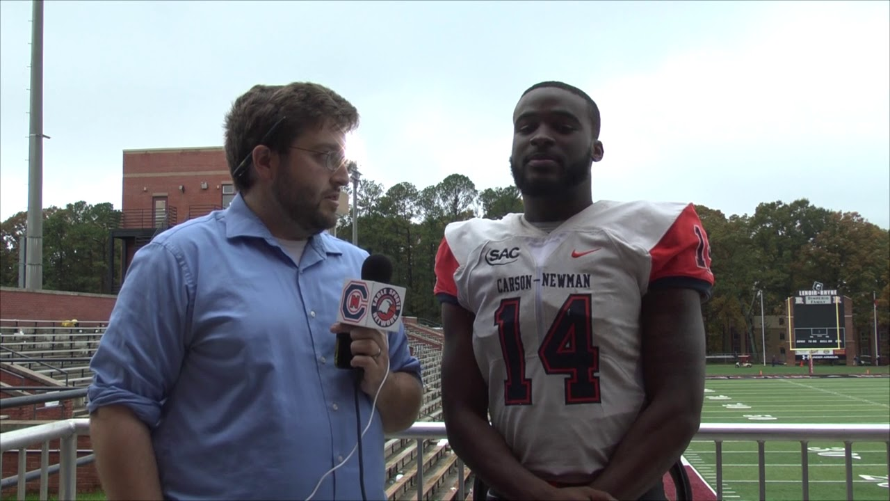 Carson Newman Football Derrick Evans Jr Recaps Lenoir Rhyne 11 4 17 Youtube