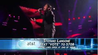 Stefano Langone - When a Man Loves a Woman - American Idol Top 9 - 04/06/11
