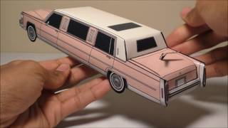 JCARWIL PAPERCRAFT 1984 Cadillac Fleetwood Brougham Limo (Building Paper Model)