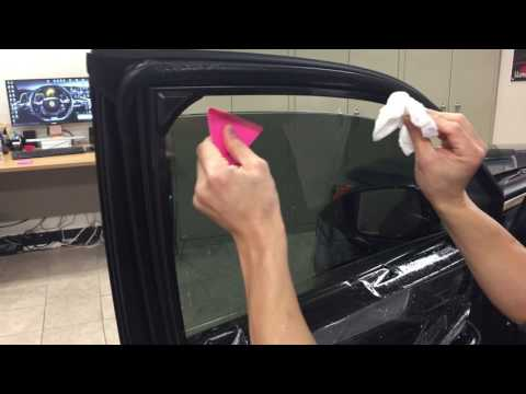 LEXEN How to Install apply window tint film Precut kit on a car suv truck side door windows